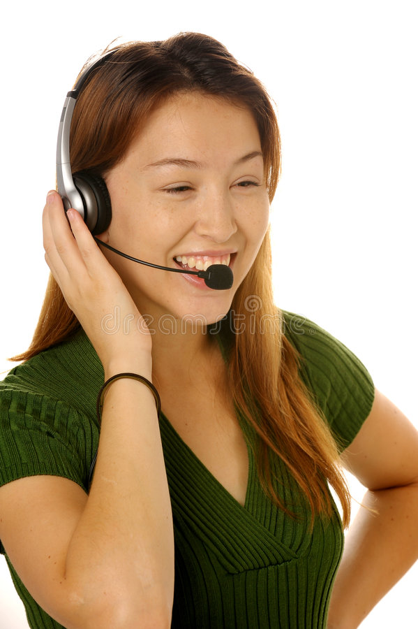 Young Female Customer Service Royalty Free Stock Images