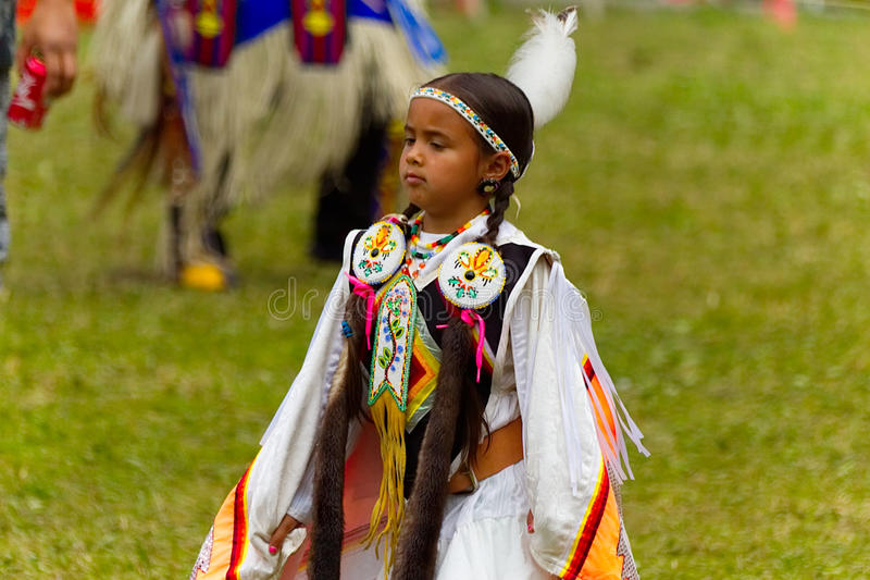 Young female Native American dancer that has the proud look of a princess-Stock photos stock photography