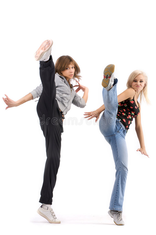 Young female dancers stock photo
