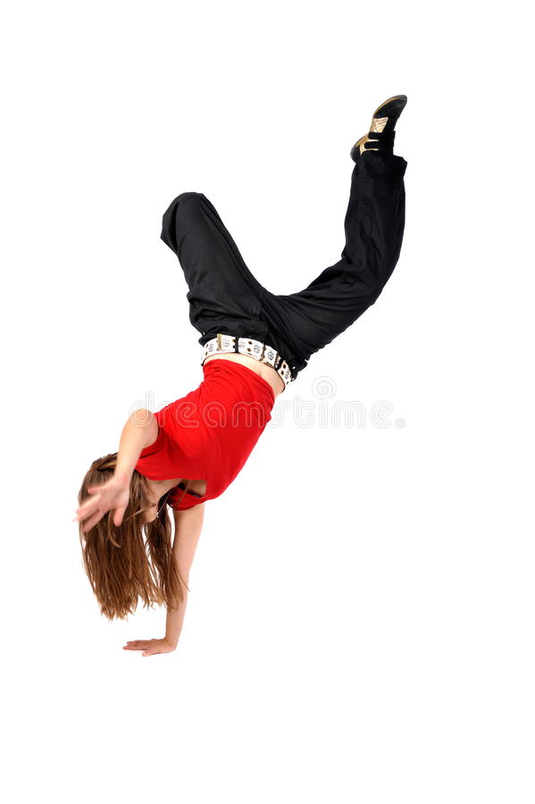 Young female dancing royalty free stock photography