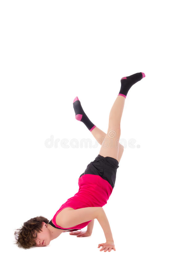 Young female dancing break dance royalty free stock images
