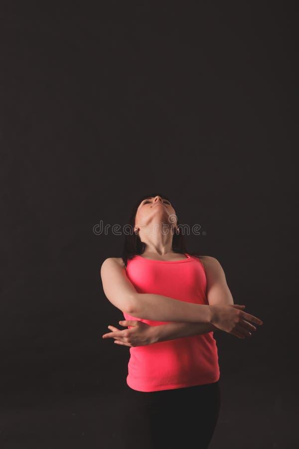 Young female dancing jazz stock photos