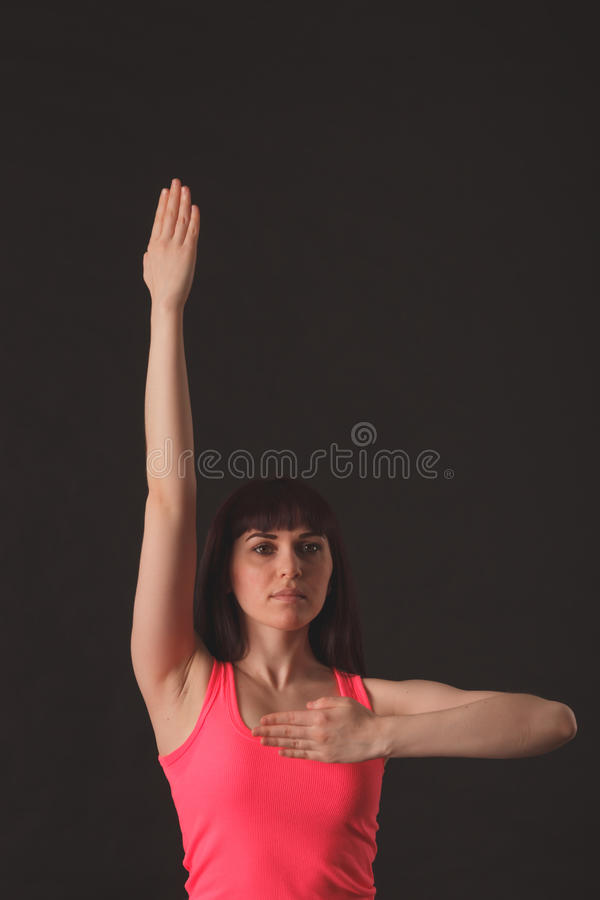 Young female dancing jazz royalty free stock image