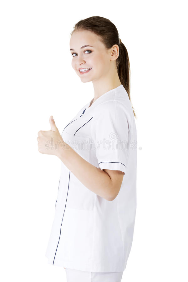 Download Young Female Doctor Or Nurse Gesturing OK Stock Image - Image: 31273535