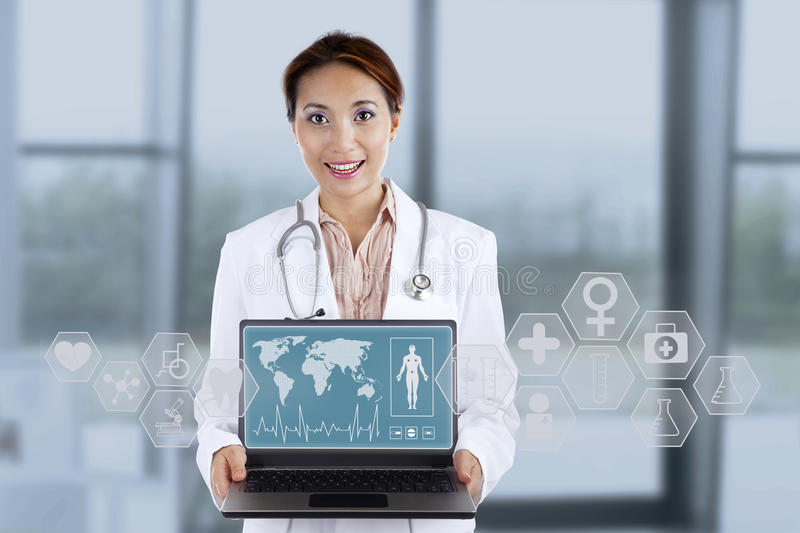 Young female doctor royalty free stock photos