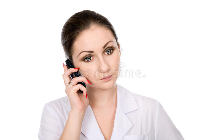 Download Young Female Doctor Speaking On Phone Stock Image - Image: 27909823