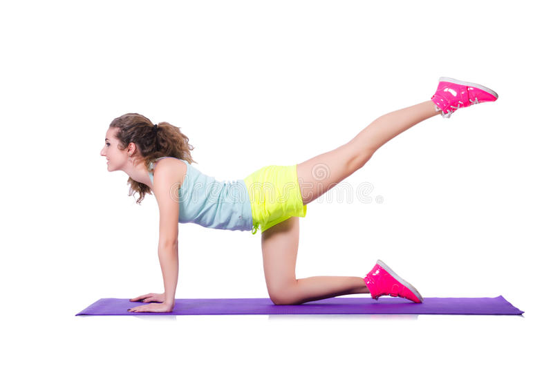 Download Young Female Doing Exercises Stock Photo - Image of body, cute: 30661590