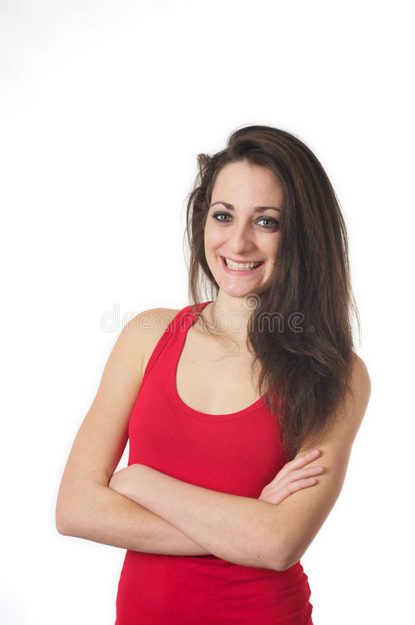 Young Female Is Excited Royalty Free Stock Photos