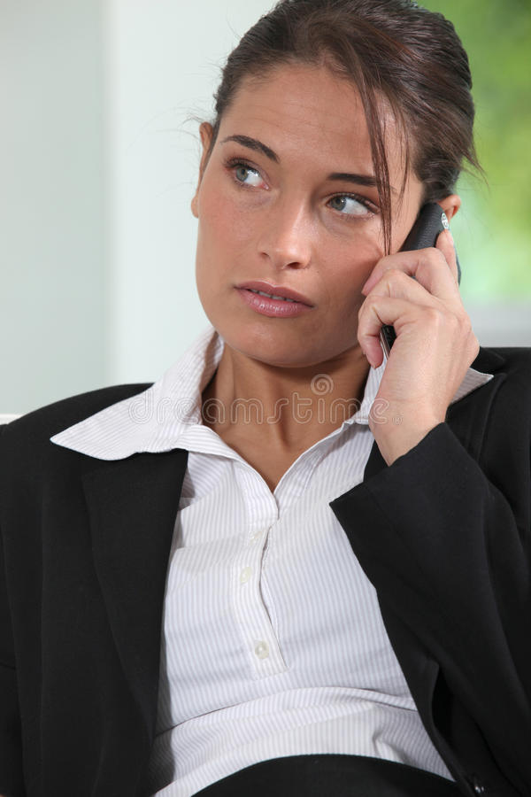 Download Young female executive stock image. Image of cellular - 25357247