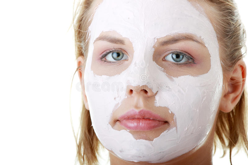 Download Young Female Face With Clay Mask Stock Photos - Image: 10290313