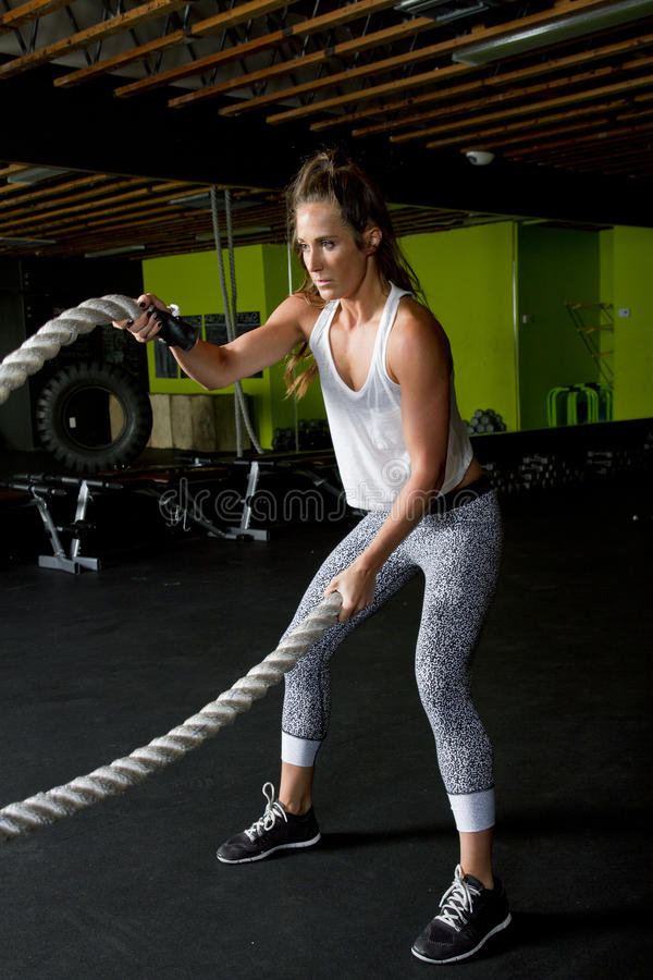 Young Female Fitness Instructor Trainer stock image