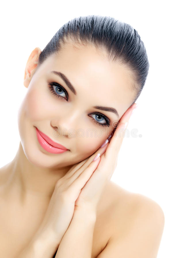 Young female with fresh clear skin royalty free stock photo