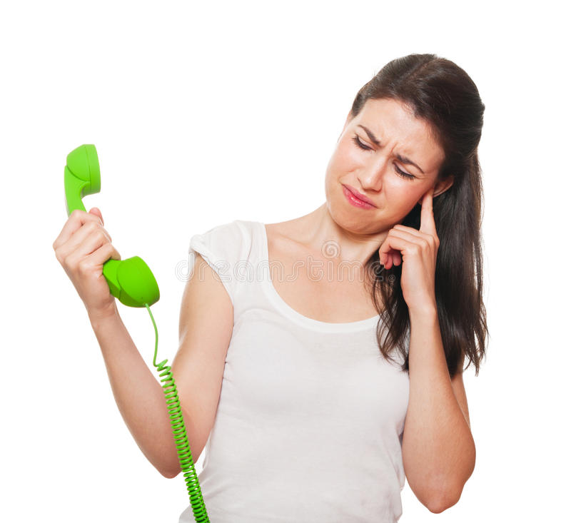 Download Young Female Getting Stressed On The Phone. Stock Image - Image: 25218959