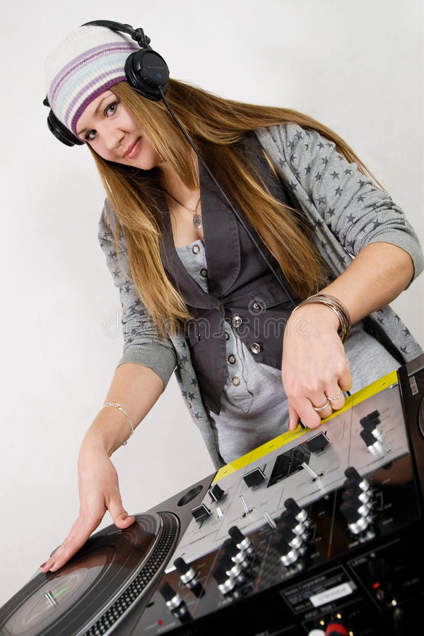 Download Young Female Hip-hop Dj Playing Stock Image - Image: 17120749