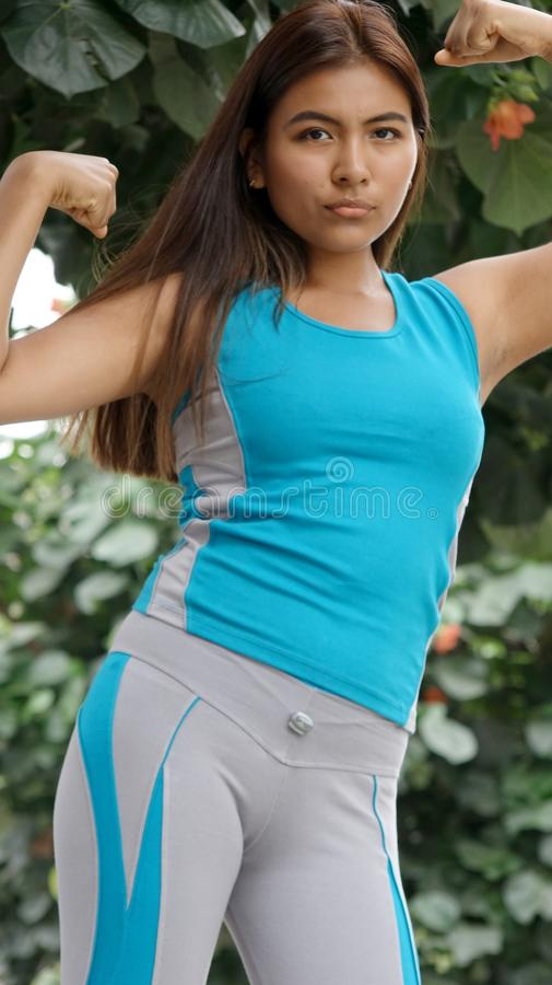 Muscular Female Teenager stock photo
