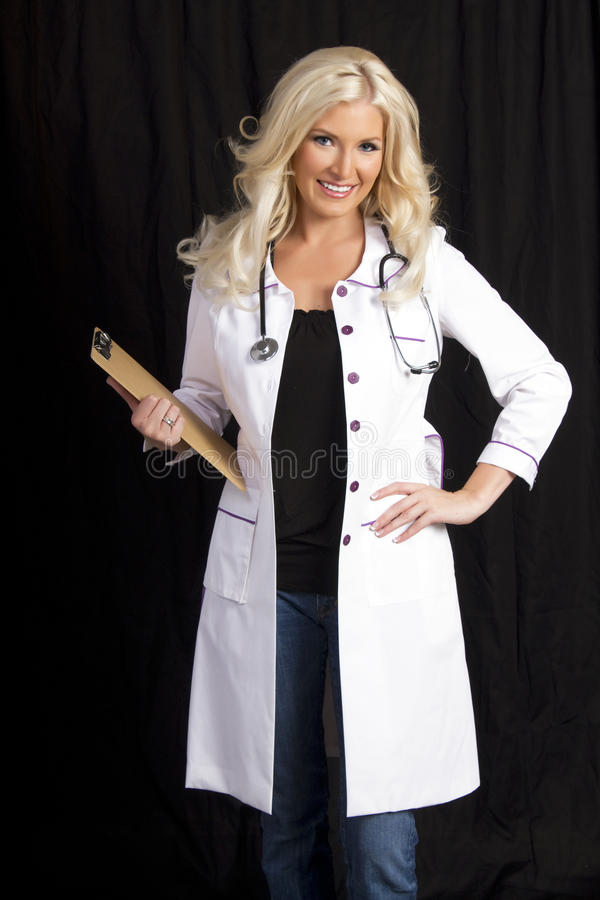 Young Female Hospital Doctor stock image