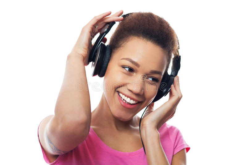 Download Young Female Listening To Music Stock Photo - Image: 38692380
