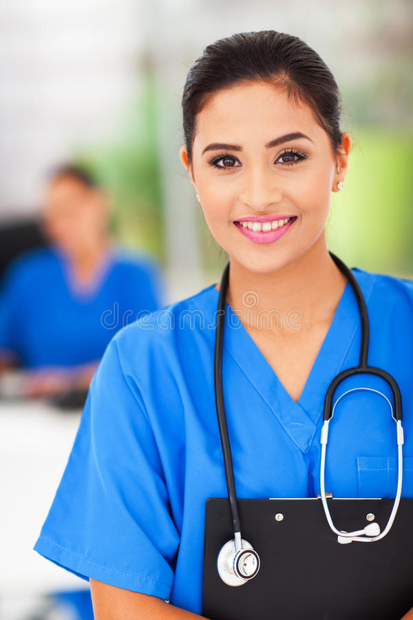 Female medical nurse royalty free stock images