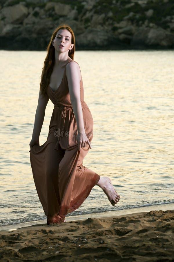 Young woman at beach stock photo image 29918850 - Mediterrane mobel ...