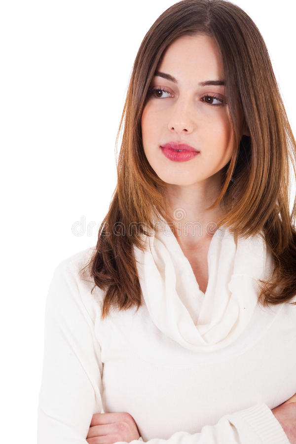 Download Young Female Model Folding Her Hands Royalty Free Stock Photography - Image: 12268427