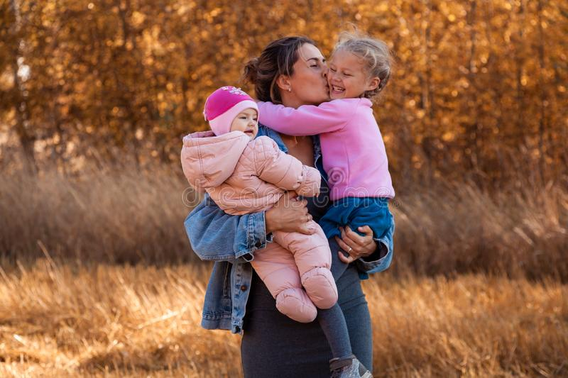 A young female mother stock photo
