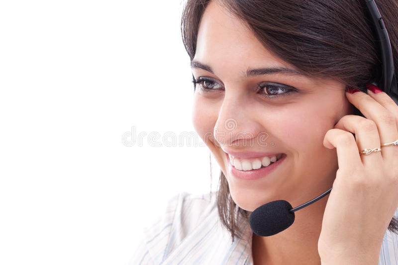 Young female operator royalty free stock images