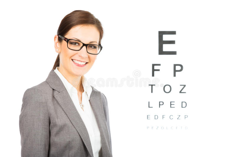 Young Female Optician stock image