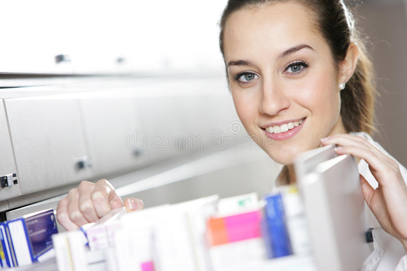 Young female pharmacist