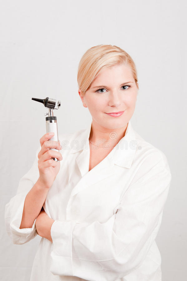 Download Young Female Professional Doctor With Medical Tool Stock Photo - Image: 11553836