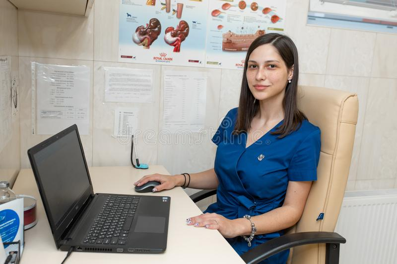 Young female professional medical doctor cardiologist in her office stock photos