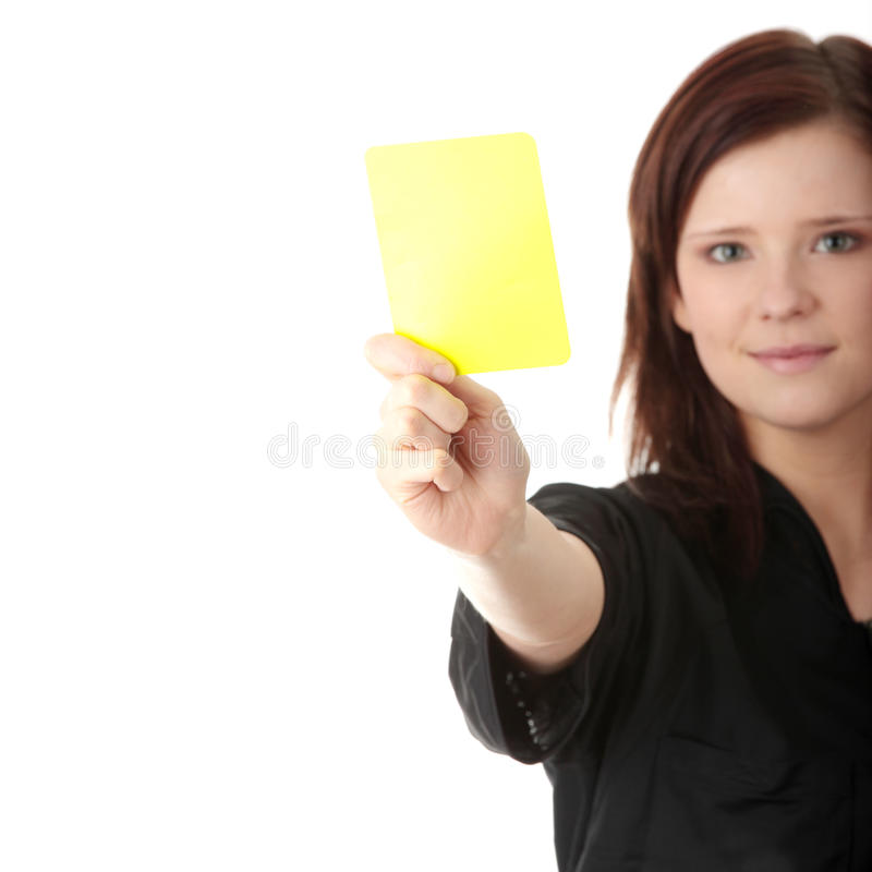 Young Female Referee Royalty Free Stock Photos