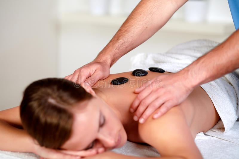 Download Young Female Relaxing At A Day Spa Stock Image - Image: 25404701