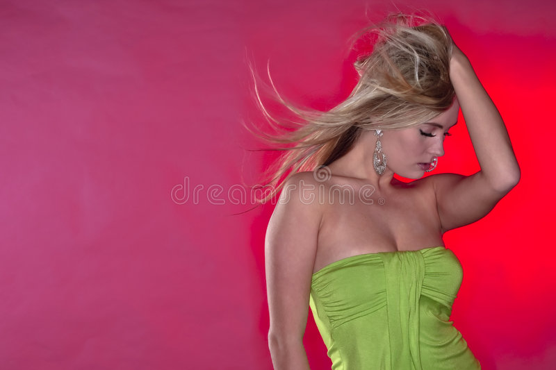 Young Female in Studio royalty free stock photography