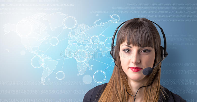Young Female telemarketer stock photography