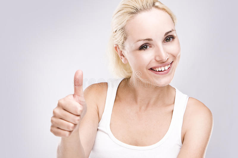 Download Young Female With Thumbs Up. Stock Image - Image of beauty, person: 10381503