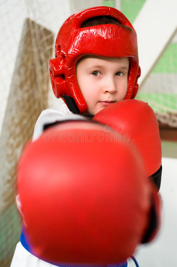 Download Young fighter boy stock image. Image of child, lunge - 13245141