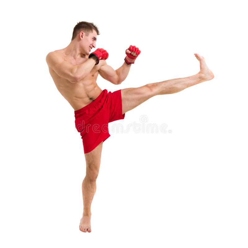 Download Young fighter exercising stock image. Image of training - 26846497