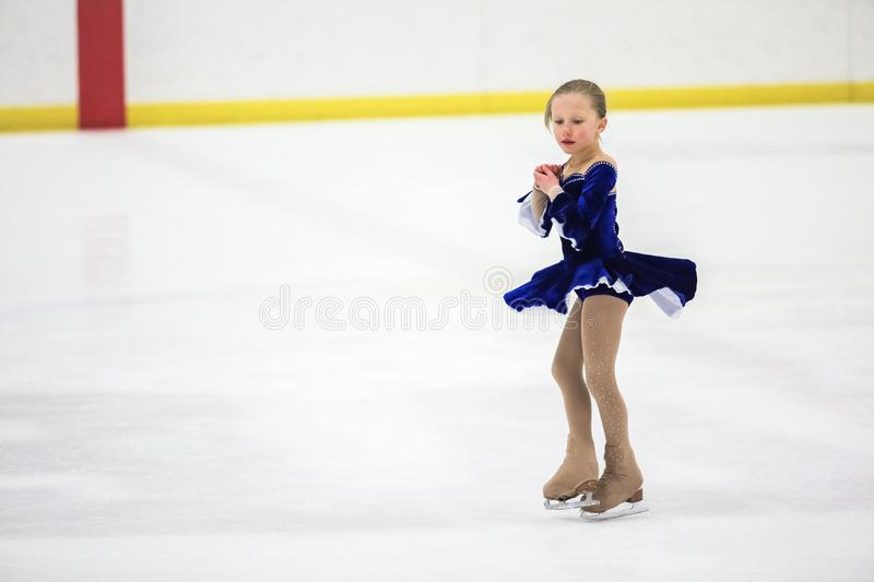 Young figure skater royalty free stock photos