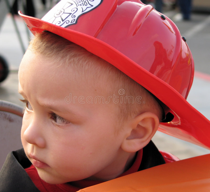 Young Fireman royalty free stock photos