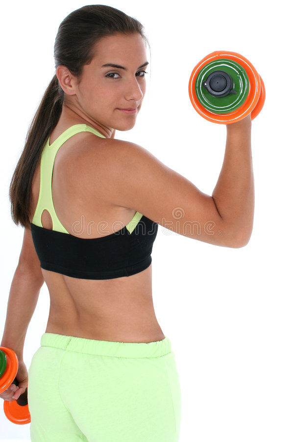 Young and Fit stock image