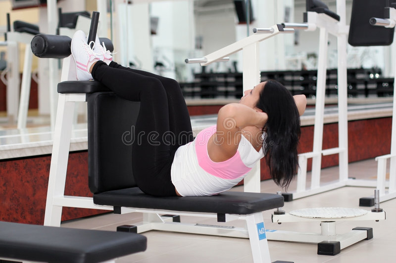 Young fit woman stock images