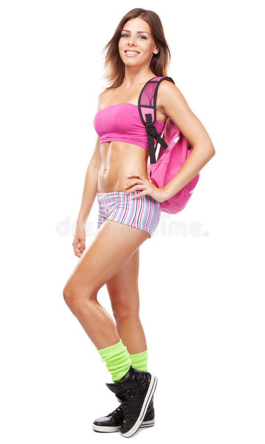 Download Young Fit Woman In Sports Outfit Stock Photos - Image: 25572873