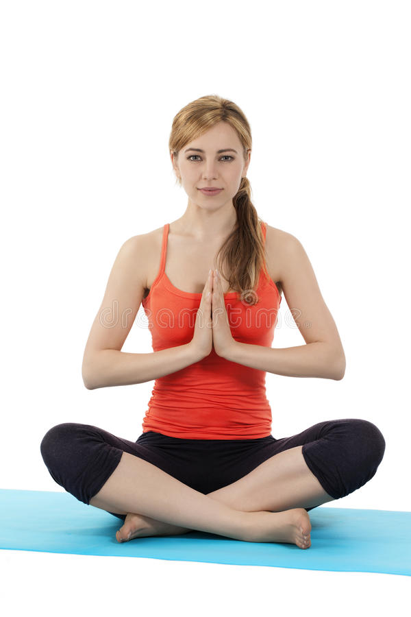 Young Fitness Woman Exercising Yoga Royalty Free Stock Photo