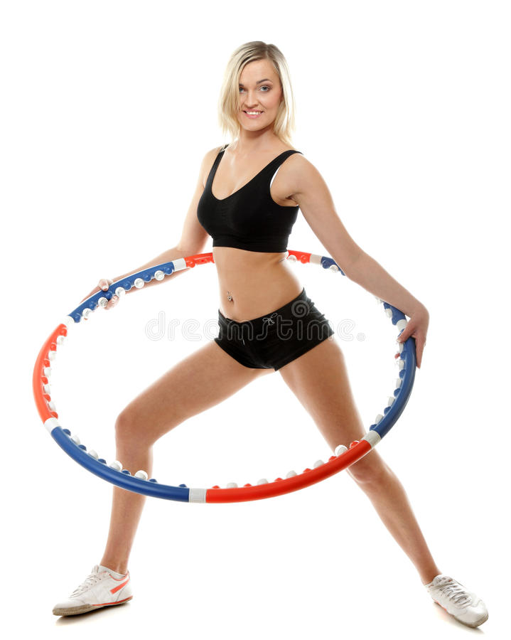 Download Young Fitness Woman With Hula Hoop Isolated Stock Image - Image: 30771221