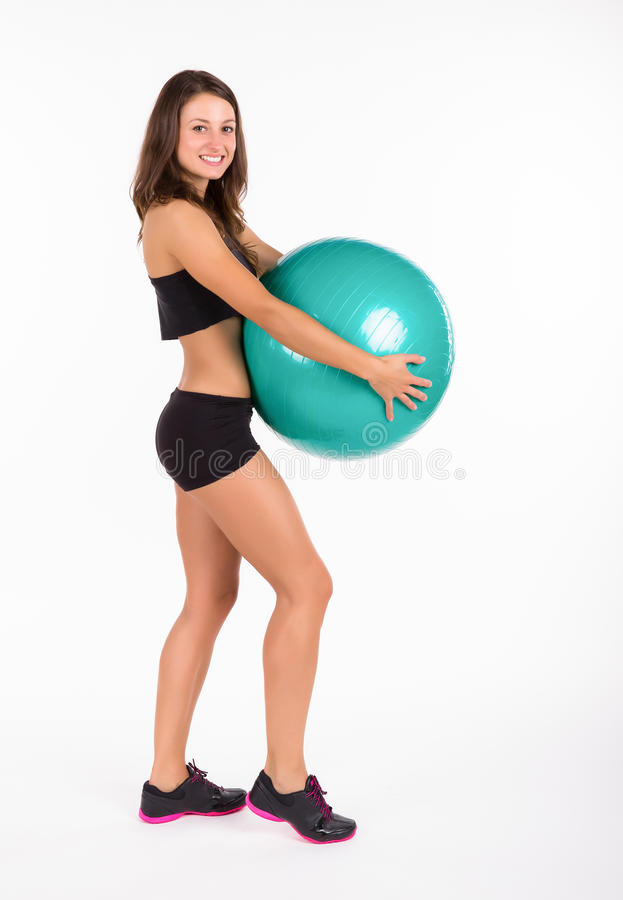 Download Young Fitness Woman Isolated Stock Image - Image: 31873505