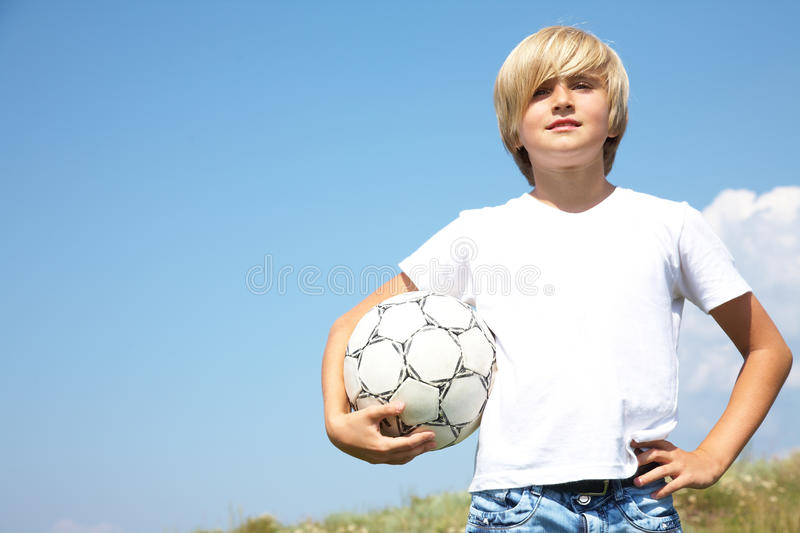 Download Young footballer stock image. Image of player, child - 20745515
