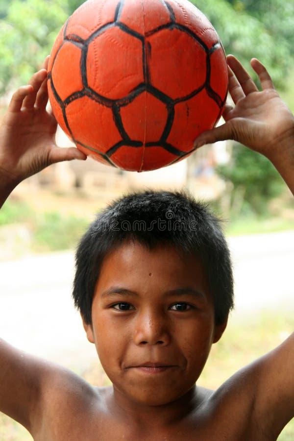 Young footballer royalty free stock photo