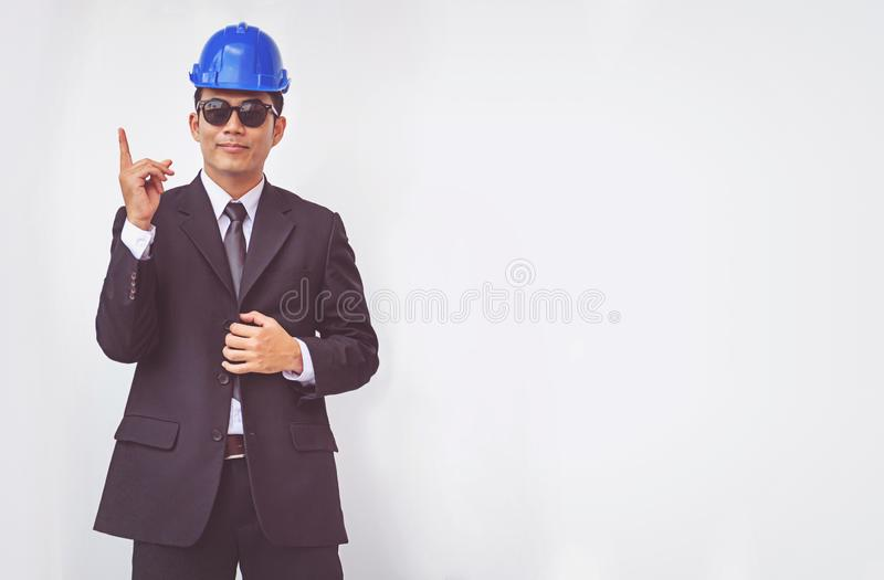 Young foreman thinking of plan, concept business royalty free stock images