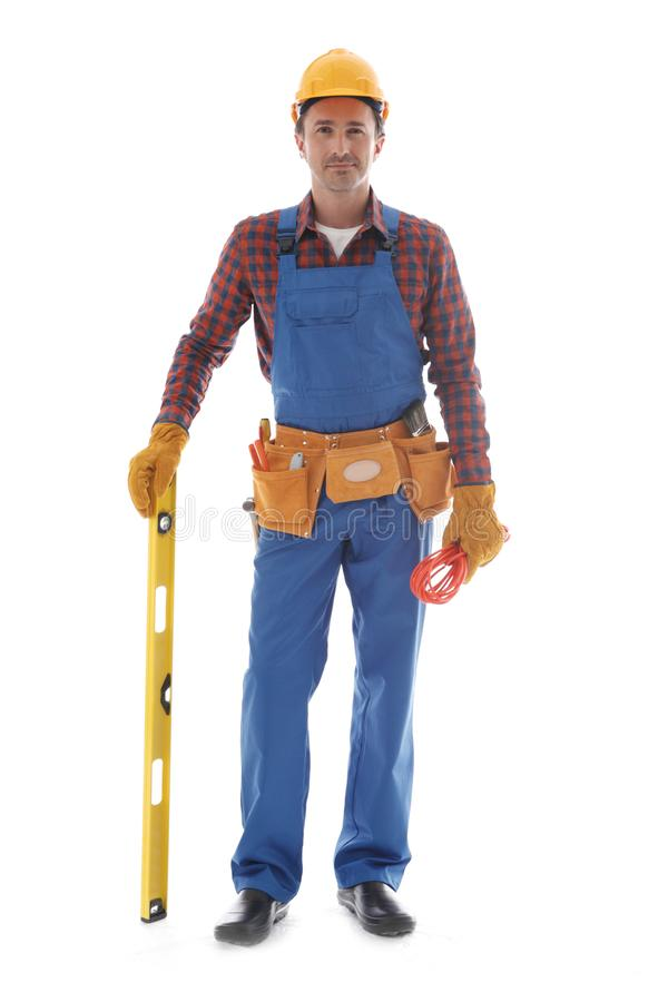 Manual worker isolated stock image