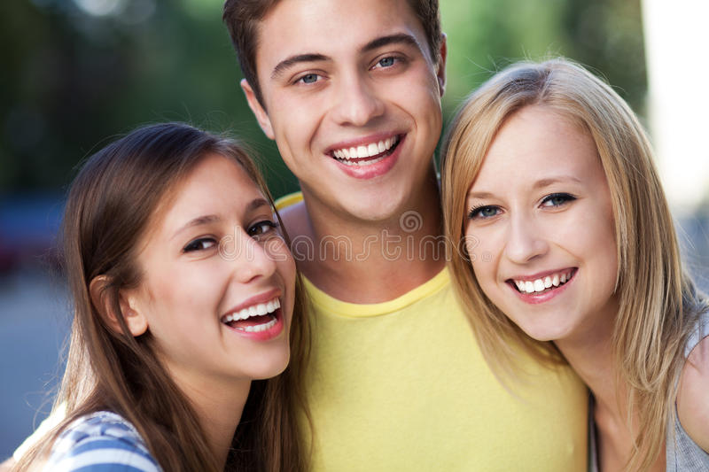 Download Young friends stock photo. Image of laughing, attractive - 26980470